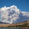 Lake Fire from Castaic Lake. Castaic Lake, CA. 08-12-2020