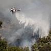 Cal Fire Helo #305 drops off Lake Hughes Road. Lake Fire. 08-12-2020