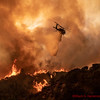 LACoFD Copter 16 drops on spot fire at Lake Fire. 08-12-2020