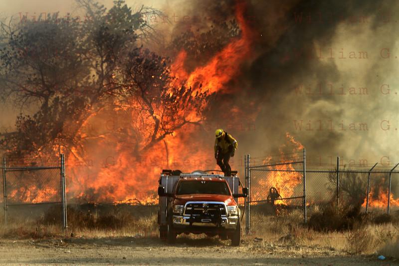 Rye Fire LACoFD Patrol 97 in Valencia Travel Village 12-05-2017