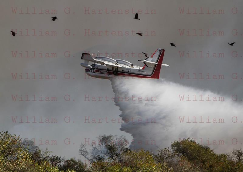 Rye Fire LACoFD Super Scooper Drops in Valencia Travel Village 12-05-2017