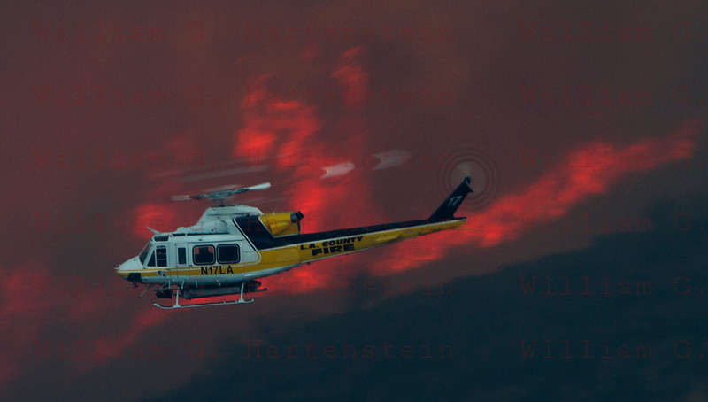 Rye Fire LACoFD Copter 17 off hwy 126 12-05-2017