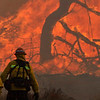 Rye Fire LACoFD Patrol 97 Capt. at Valencia Travel Village 12-05-2017
