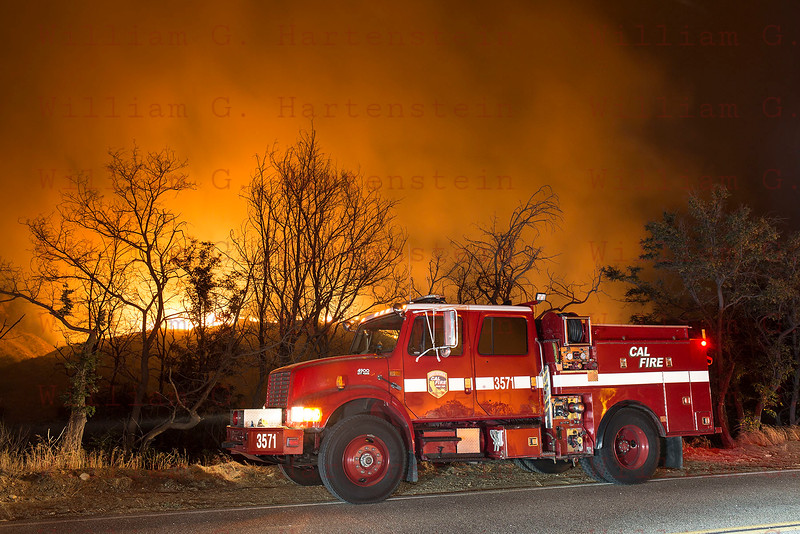 Sand IC Cal Fire 3751 Day 3 on Placerita Cyn 07-24-2016