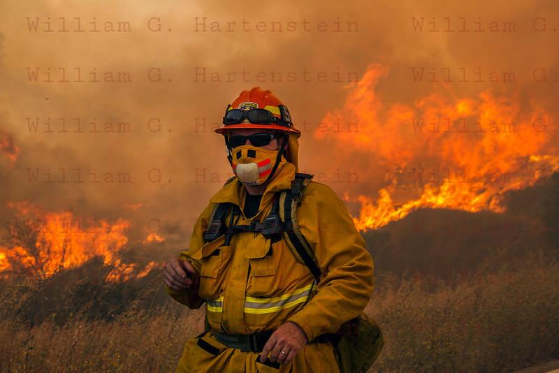 Sand IC Day 3 LA City Fire Capt 58's on Placerita Cyn 07-24-2016