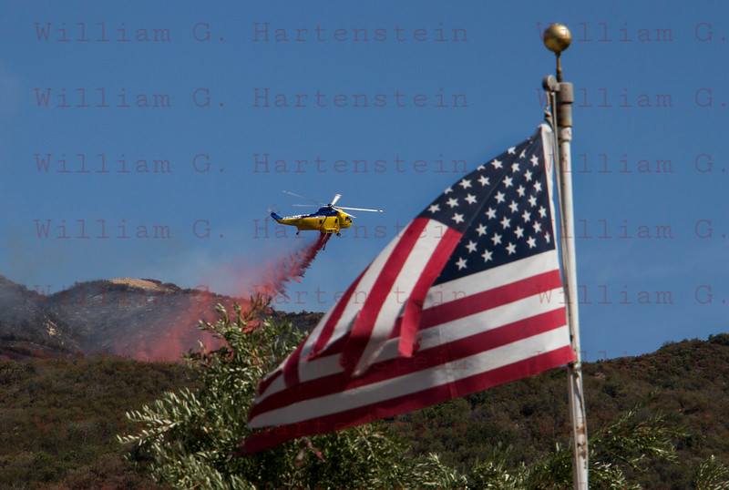 and IC Day 4 Helo drops on Placerita Cyn 07-25-2016