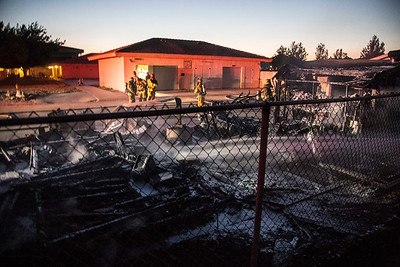 Structure Fire near Highway 18 & Dale Evans Parkway, Apple Valley