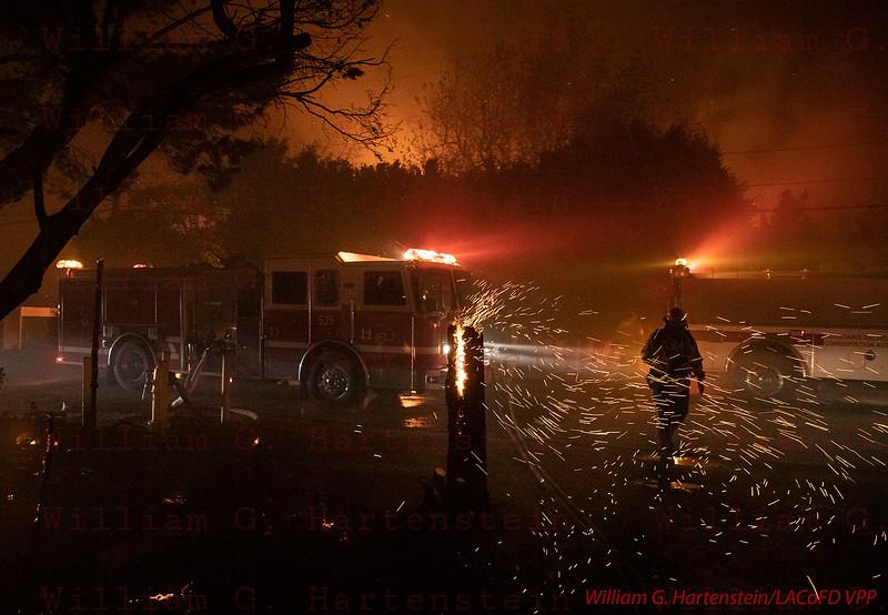 Woolsey Fire on Dume Dr. Malibu, CA. 11-09--2018