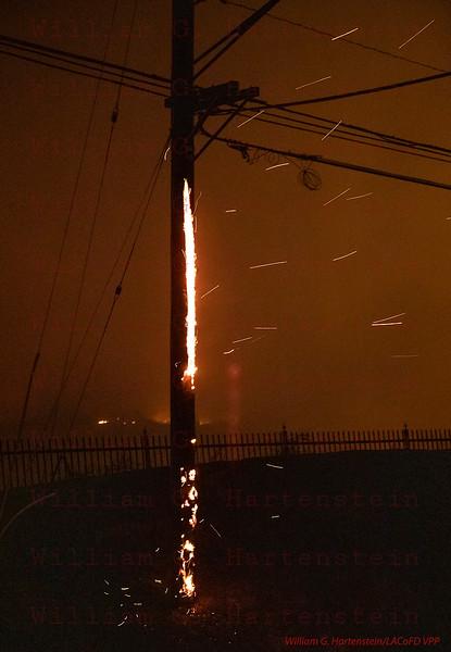 Woolsey Fire on Kanan Road 11-09--2018