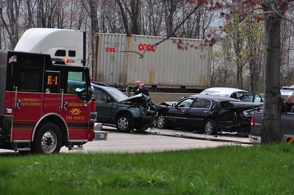 Dearborn - Southfield Freeway -Head on accident