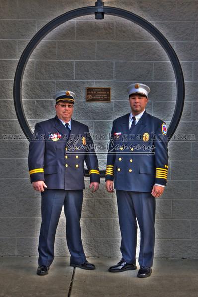Captain Ed Weitzman and Chief Matt Zemski