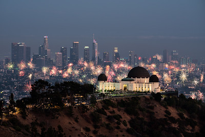 4th of July Fireworks from Griffith Observatory, Los Angeles