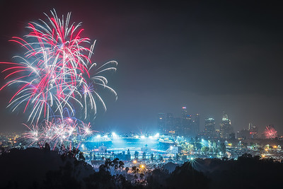 Dodgers fireworks, Los Angeles CA