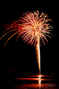 Fireworks in Cedar Key Florida