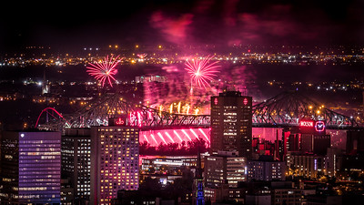 Fireworks over Montreal
