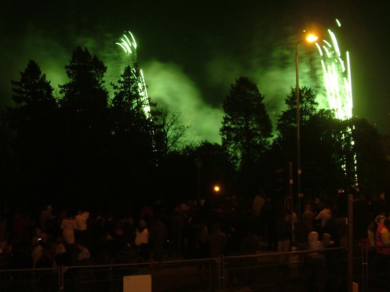 Fireworks at Alexandra Palace
