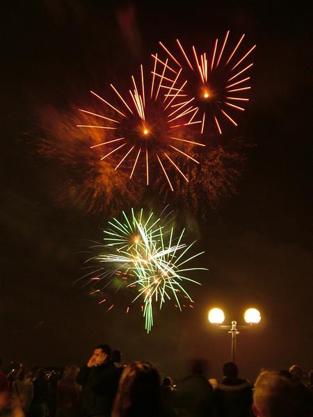 heart-shaped fireworks!