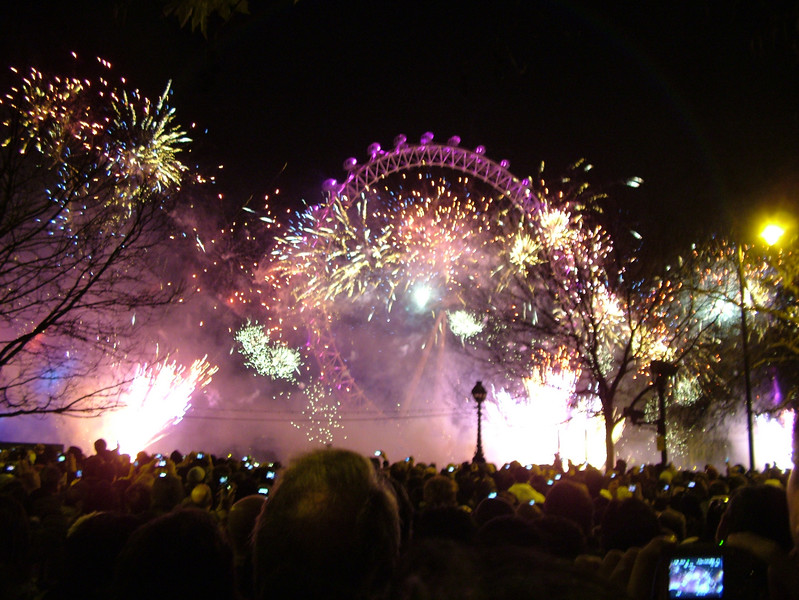 New Year's Eve fireworks in London