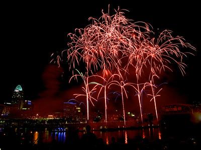 Fireworks riverfest 2014
