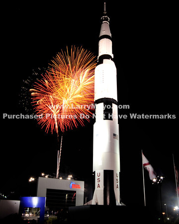 2011 4th of july fireworks at the Space and Rocket Center