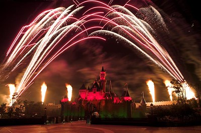 Firework display at Disneyland, Hong Kong