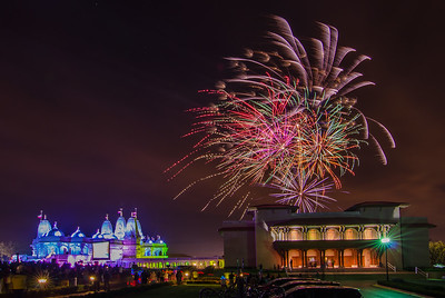 Fireworks at the Temple