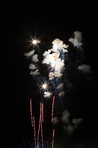 Rochester, July 4th, 2012 fireworks display from Grassy Knoll.