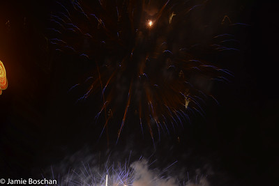 Fireworks at Citizens Bank Park after the Phillies vs Brewers game, 7/2/15