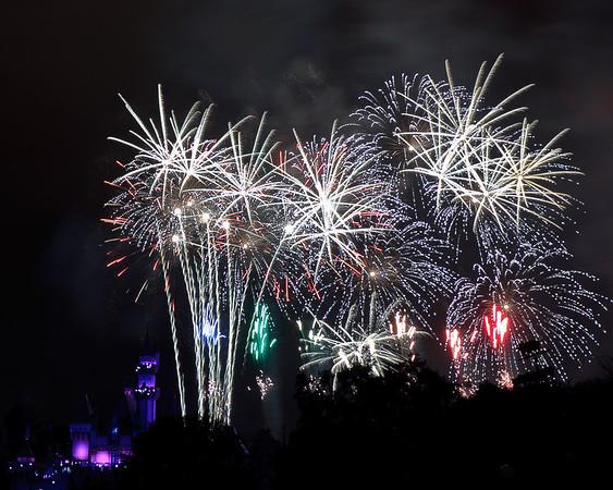 Fireworks at Disneyland