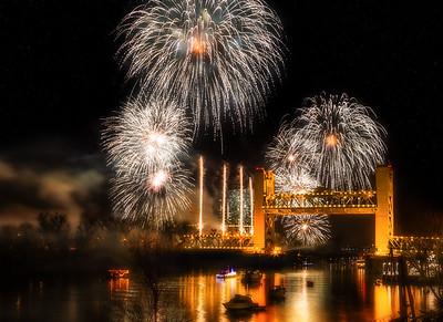 Fireworks over Sacramento