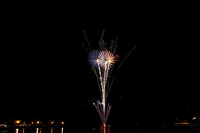 Fireworks at Charlotte pier, June 25, 2010