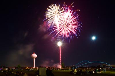 Moonlit Fireworks