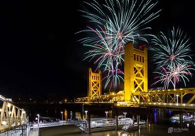 New Year's Eve Fireworks Over Sacramento 2015