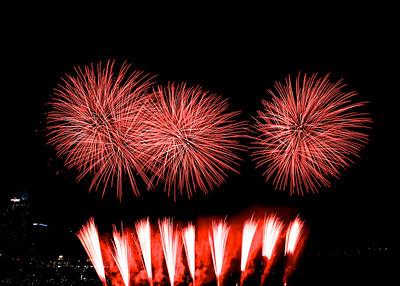 Riverfest fireworks, Sept. 2013