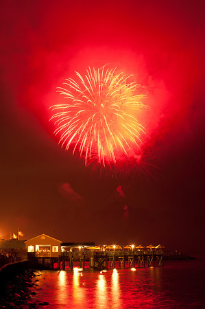 Union Beach Fireworks - July 3, 2011