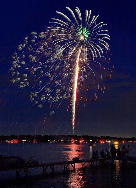 Fireworks Orchard Lake Michigan #1