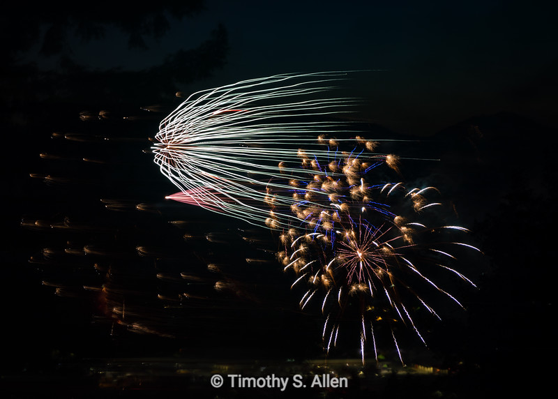 4th of July Celebration: Vertical Explosion