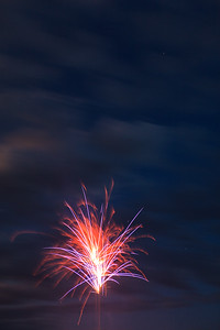 Firework And Clouds