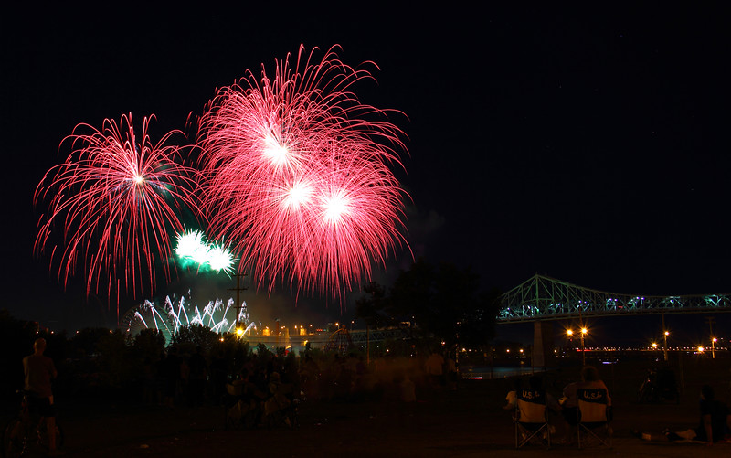 Watching Firework in Montreal