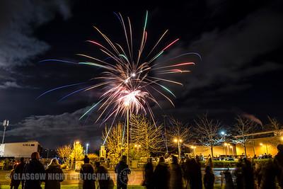 Fireworks display, Giffnock