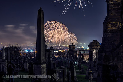Bonfire Night from the Necropolis