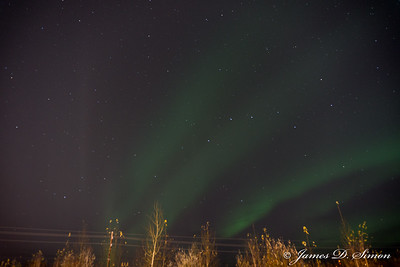 Aurora Borealis Fairbanks Sept 29
