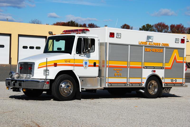 Lower Alloways Creek Rescue Squad Rescue 18-9
