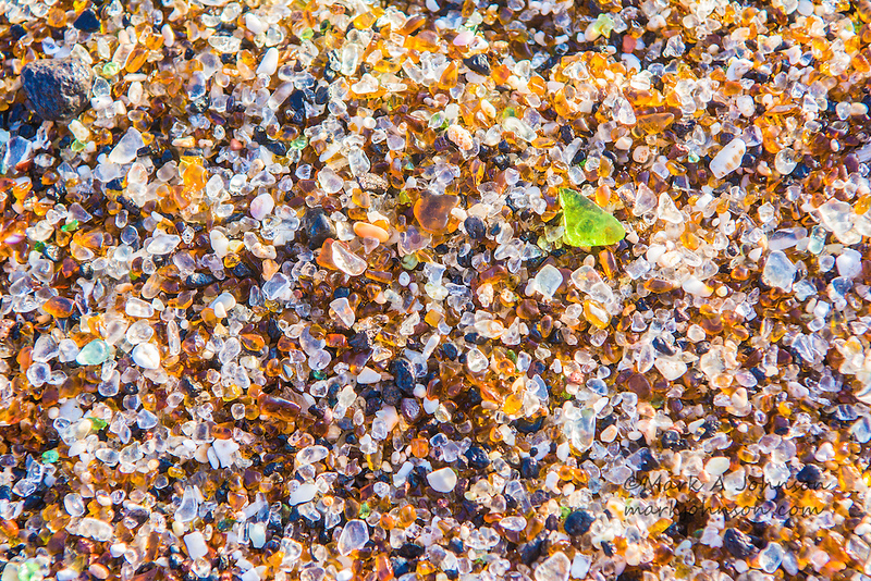 """Glass Beach"", a famous beach made entirely of beach glass, Eleele, Kauai, Hawaii, USA"