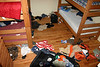It is amazing how much mess four boys can make.  The fine examples of cleanliness that occupy this room left their door open and I thought the whole world would want to see.  PS- Moms, if you recognize any of these items, you might want to keep it to yourself.