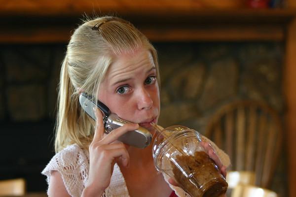 Laura demonstrates her multitasking abilities.