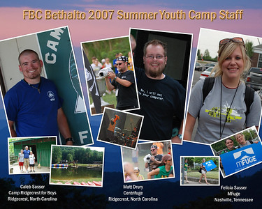 2007 Youth Camp Staffers