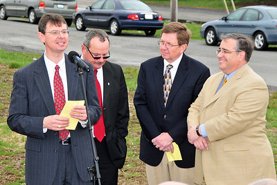 Pastor Chip Faulkner, Mayor Steve Bryant, Dr Larry Richmond and Marty King