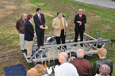 Marty King at FBCB Ground Breaking Ceremony