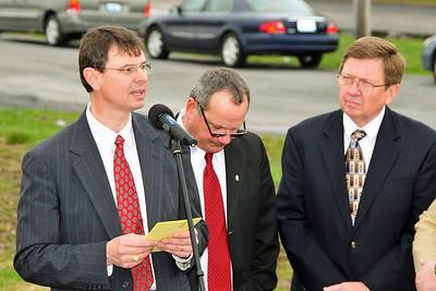 Pastor Chip Faulkner, Mayor Steve Bryant and Dr Larry Richmond